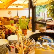 Der Brunnen im Restaurant-Freisitz